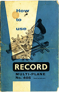 Cover of Record 405 multi-plane manual, 1960 edition.