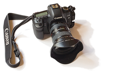 Canon EOS 5D Mark II with 17-40mm lens