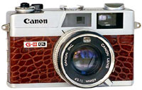 Canonet dressed in alligator skin