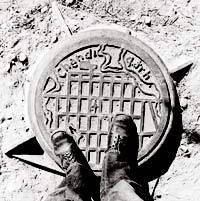 Cast iron manhole cover, Chandigarh, 1972