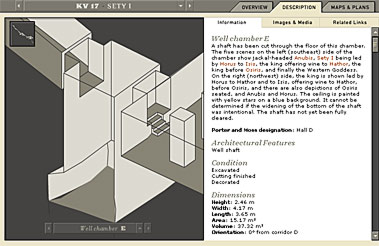 Well chamber E, tomb of Sety I -- screen shot from the Theban Mapping Project web site