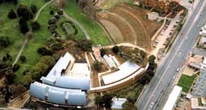 Aerial view of the National Wine Centre